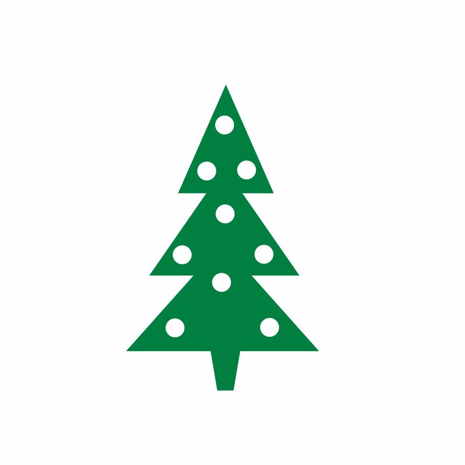 910x910 Christmas Tree Clip