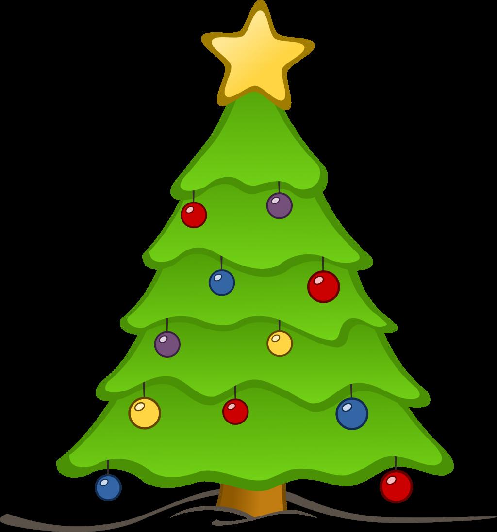 1024x1098 Christmas ~ Christmas Treelipart Myfreetutorials Black And White