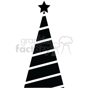 300x300 Royalty Free Black Christmas Tree Design 383719 Vector Clip Art