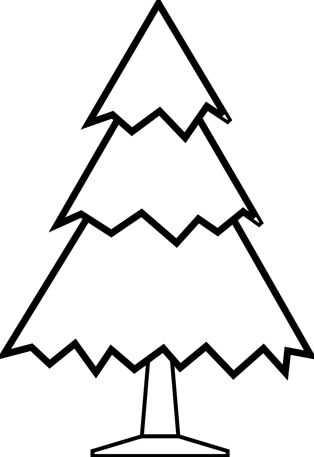 999x1452 Tree Black And White Christmas Tree Clipart Black And White Free 2