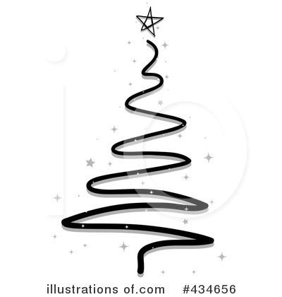 400x420 Black Christmas Tree Clipart