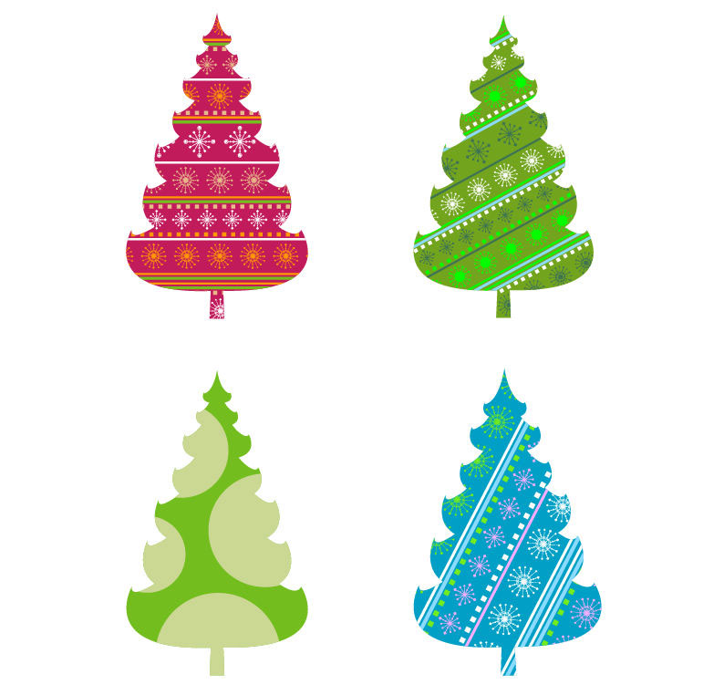 794x762 Abstract Christmas Tree Vector Graphics Free Vector Graphics