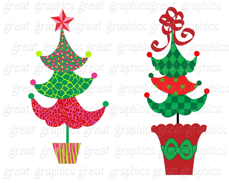 800x640 Free Clipart Christmas Tree Grinch