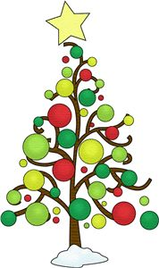 178x300 Modern Christmas Tree Clipart