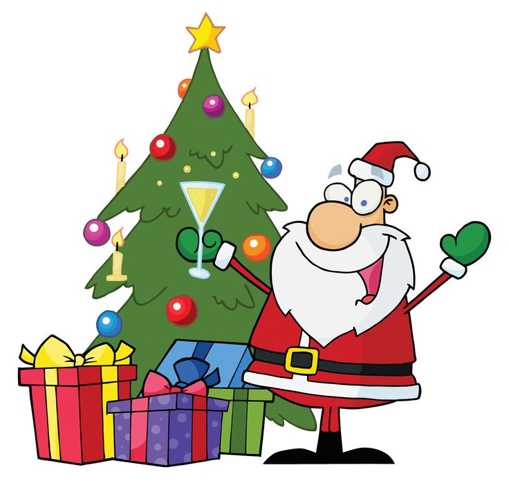 736x695 Xmas Tree Cartoon Clip Art