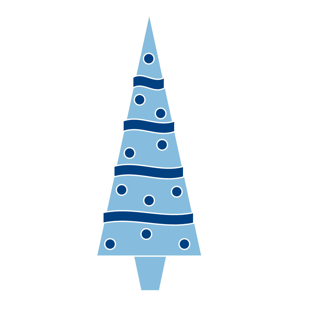 1074x1074 Blue Christmas Tree Clipart
