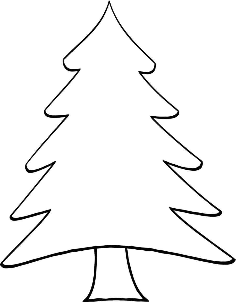 Christmas Tree Clipart Outline.Christmas Tree Clipart Outline Free Download Best