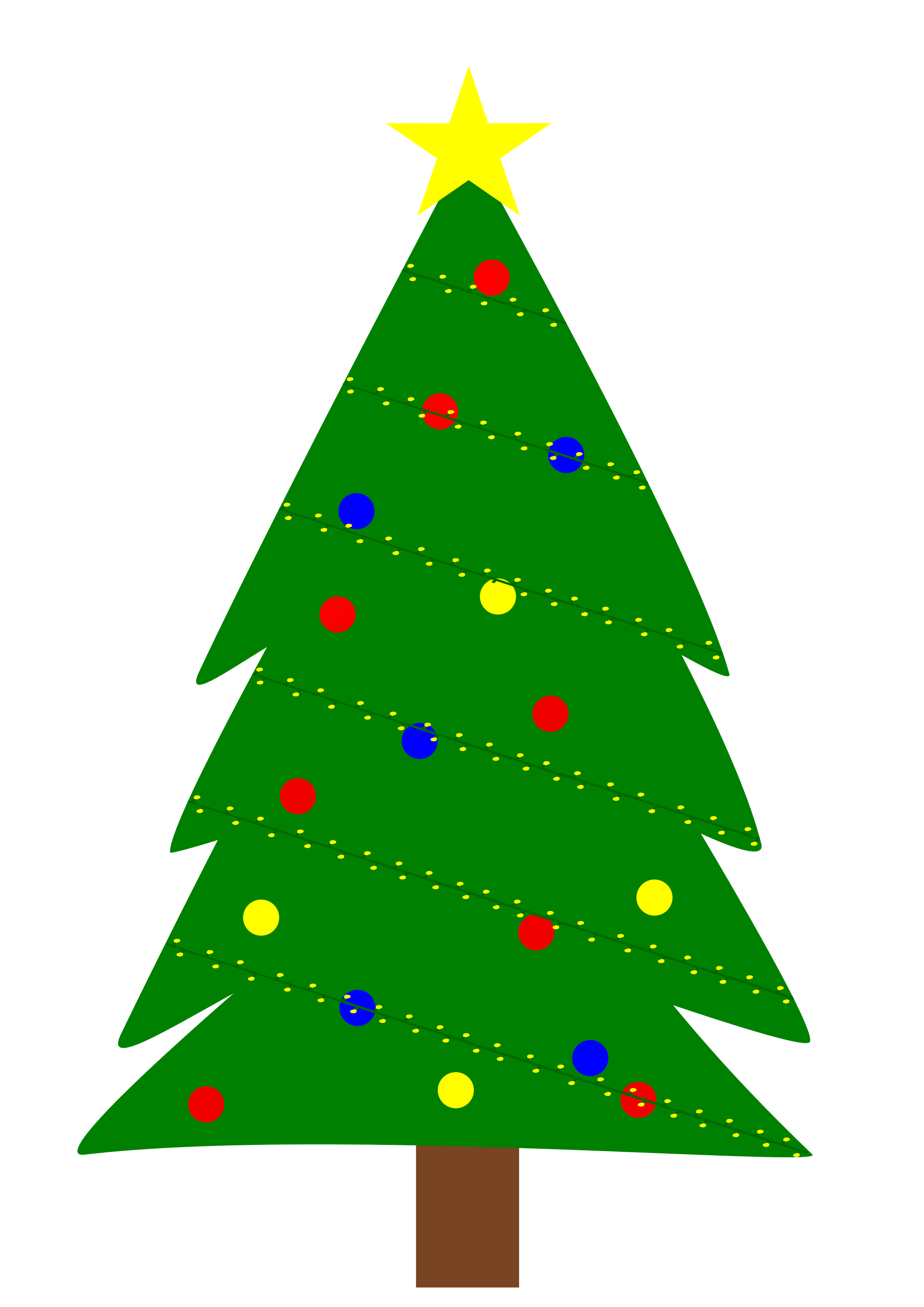 Christmas Tree Clipart Outline | Free download best Christmas Tree ...