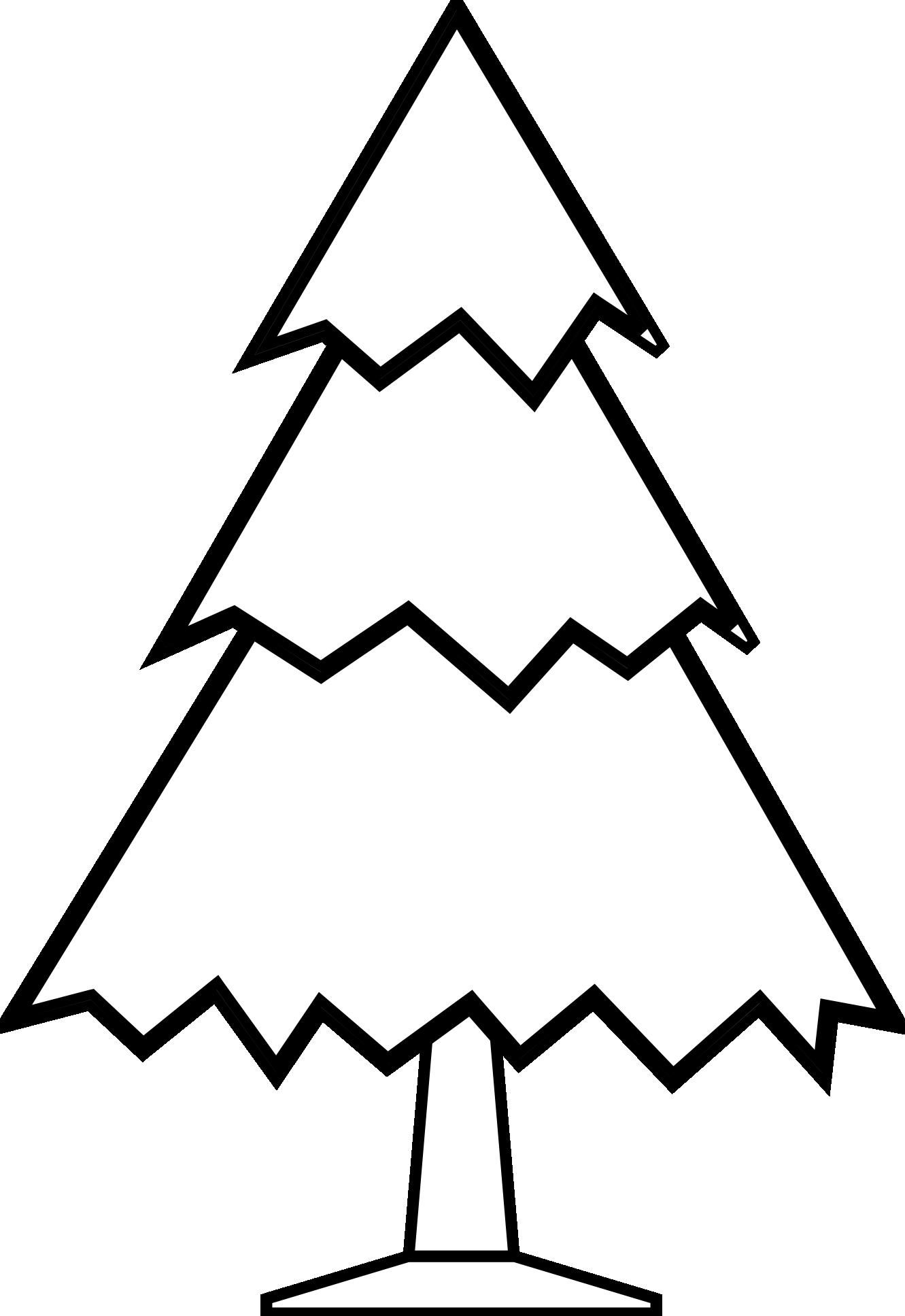1331x1935 Christmas Tree Black And White Clip Art Black And White Xmas Trees