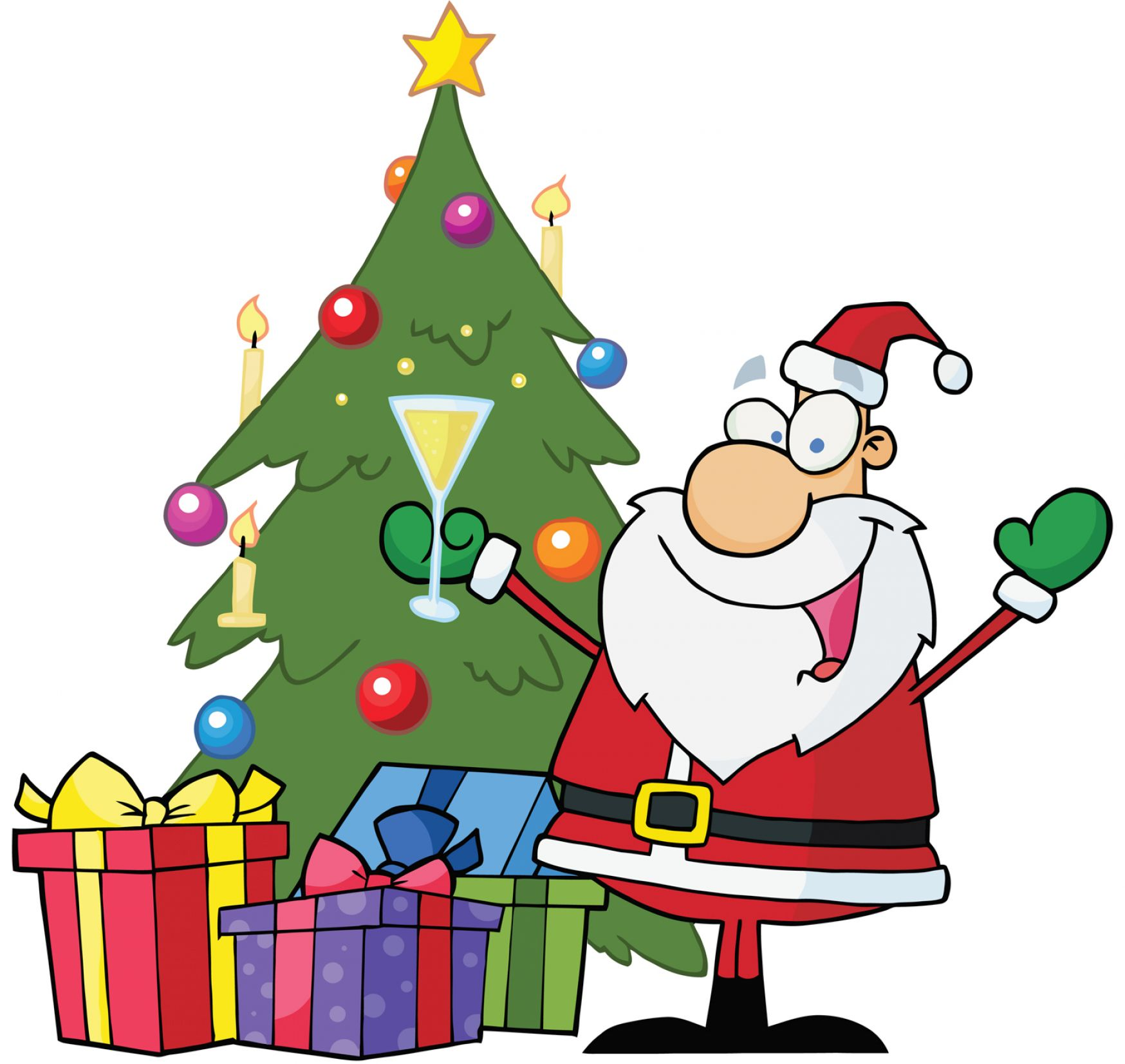 1748x1652 Collection Christmas Tree With Presents Clip Art Pictures