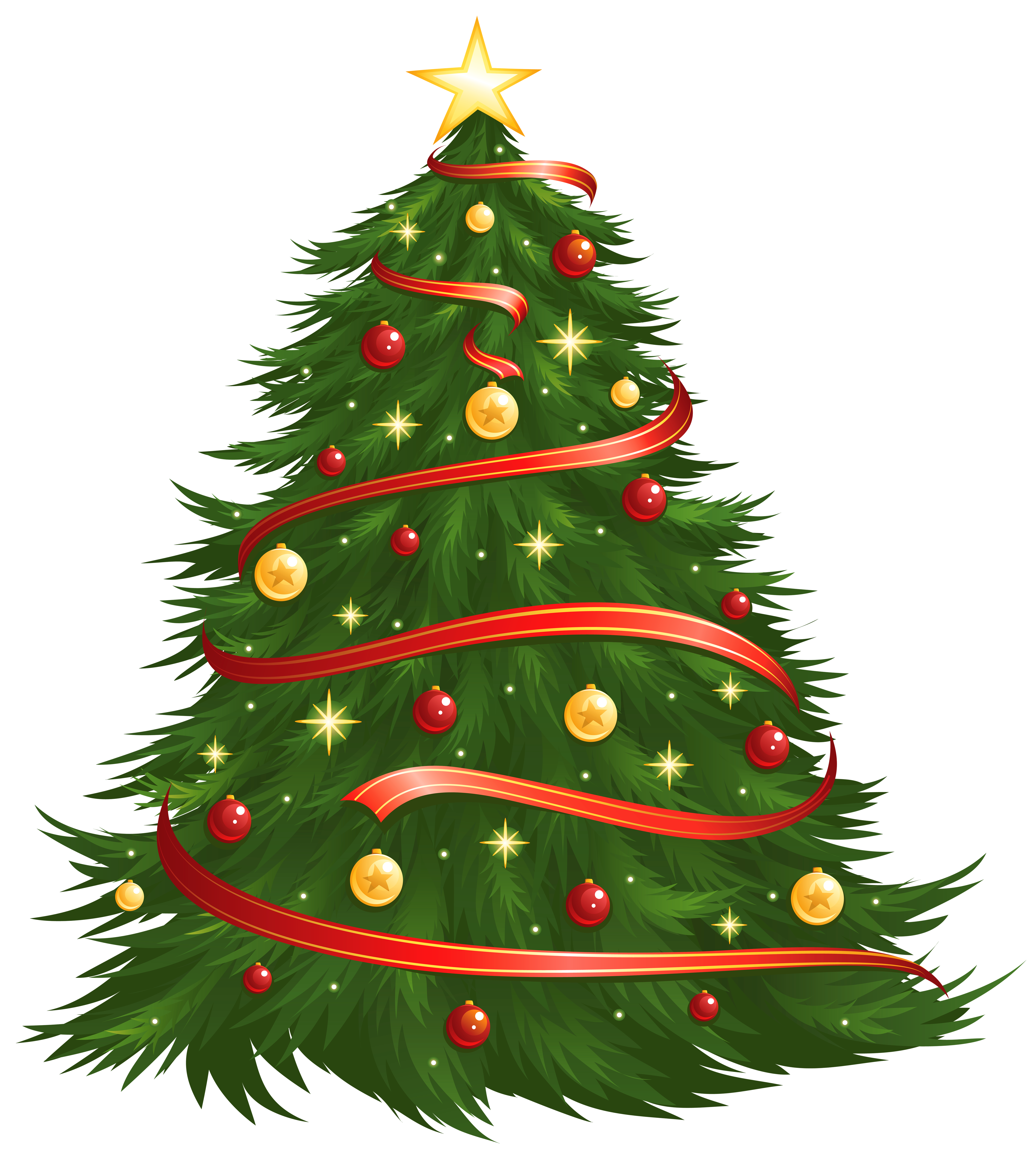 4500x5029 Large Size Transparent Decorated Christmas Tree Png Clipart