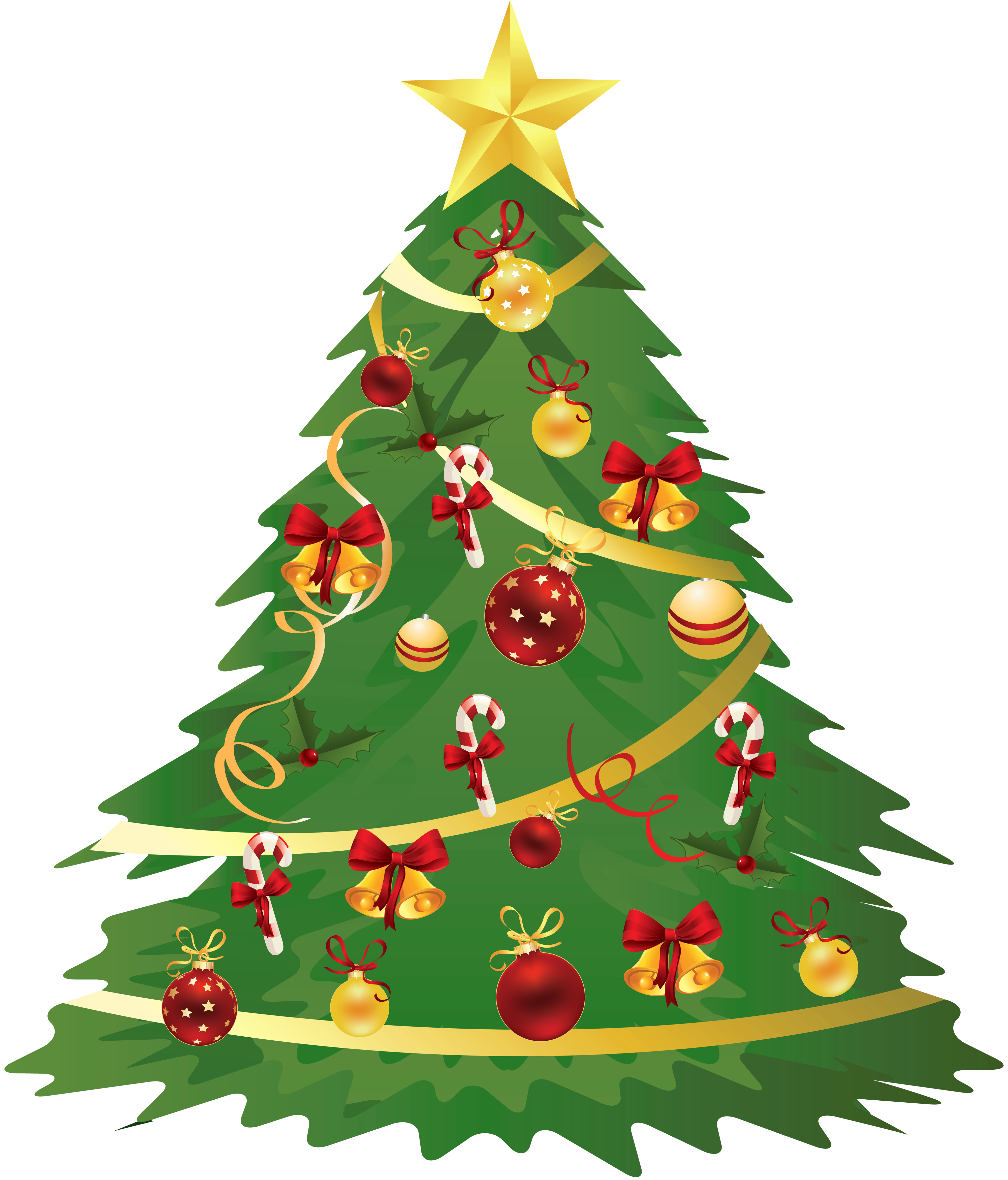 4000x4683 Large Transparent Christmas Tree With Ornaments And Candy Canes