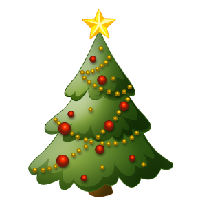 288x288 Christian Christmas Tree Clip Art