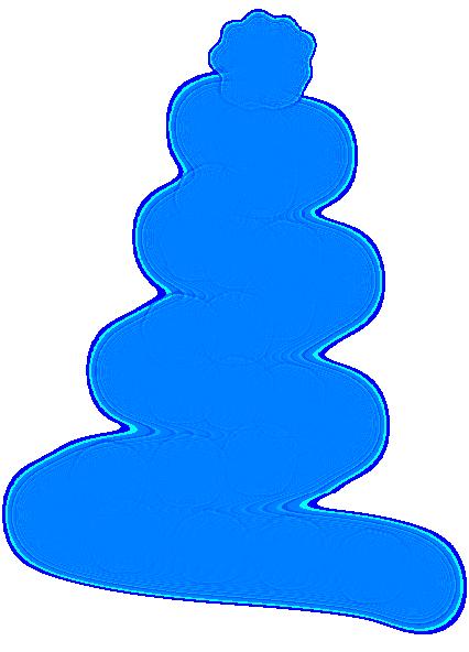 426x592 Blue Christmas Tree Clipart