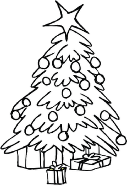 416x640 Christmas Tree Coloring Pages For Kids Printable Christmas