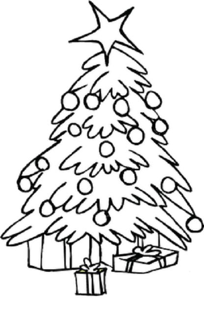 416x640 Christmas Tree Coloring Pages For Kids Printable Christmas