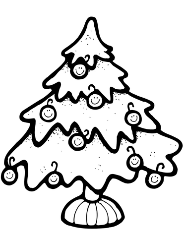 371x480 Christmas Tree Coloring Page Free Printable Coloring Pages