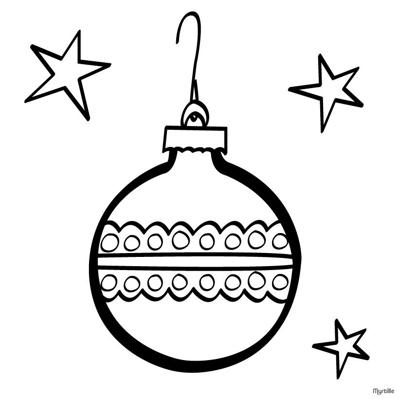820x820 Christmas Tree Ball Coloring Pages