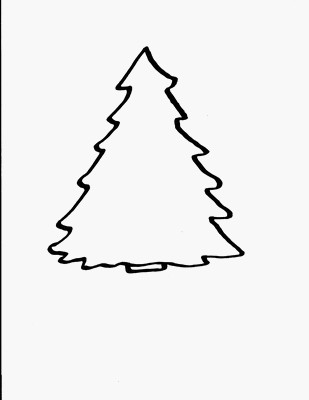 309x400 Christmas Tree Coloring Pages For Kids