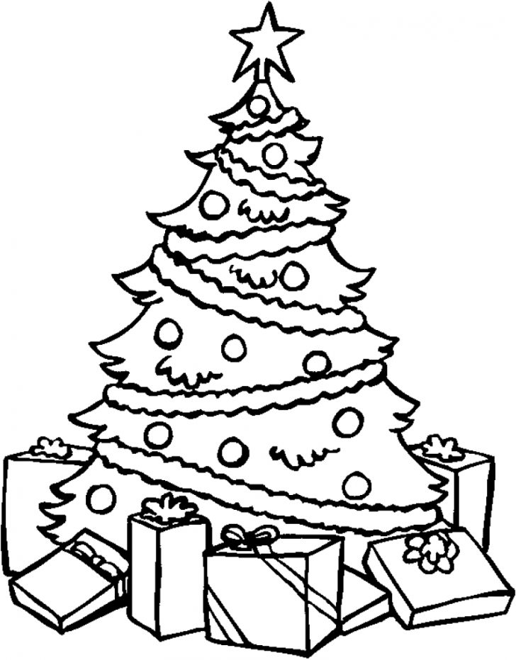 728x932 Christmas ~ Christmas Tree Coloring Pages Wallpapers9 Page Free