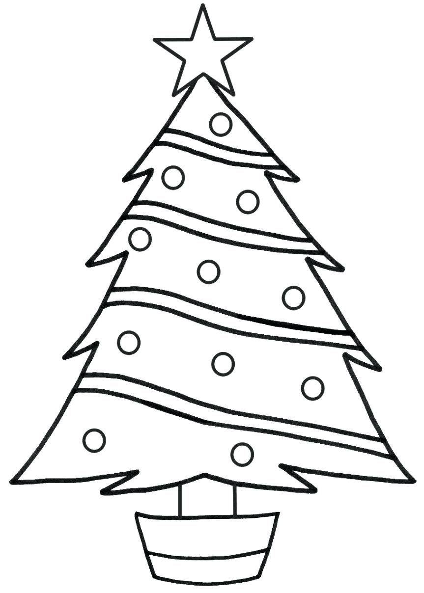 863x1208 Christmas ~ Tree Coloring Page Printable Print Download Area Free