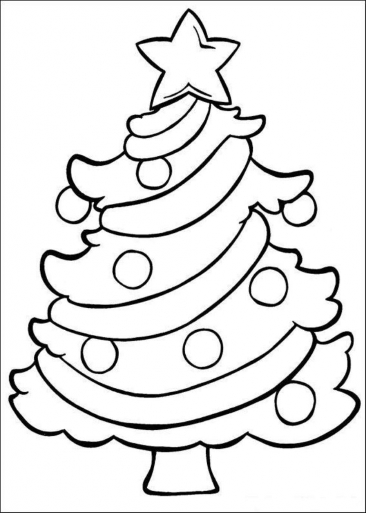 731x1024 Coloring Pages Christmas Trees