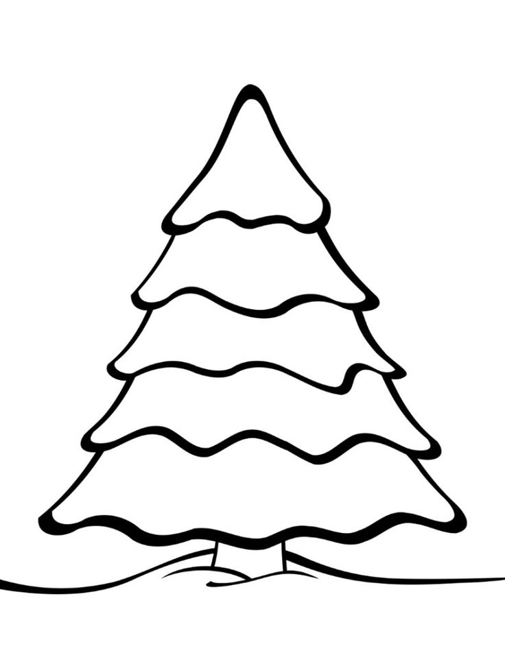 736x952 Free Printable Christmas Tree Templates Christmas Tree Template