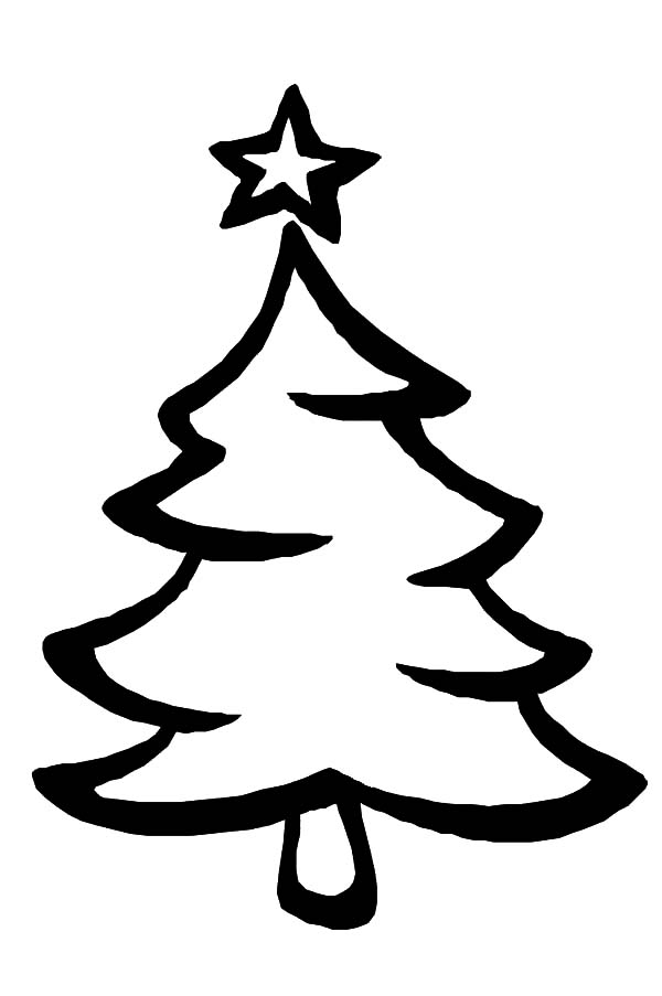 Christmas Tree Coloring Page Free download best Christmas Tree