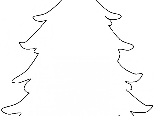 640x480 Blank Christmas Tree Coloring Pagesfree Coloring Pages For Kids