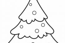 210x140 Christmas Tree Coloring Pages Free Christmas Tree To Color Free