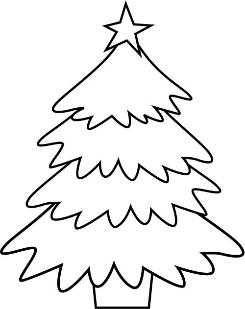 500x631 Blank Christmas Tree Coloring Page