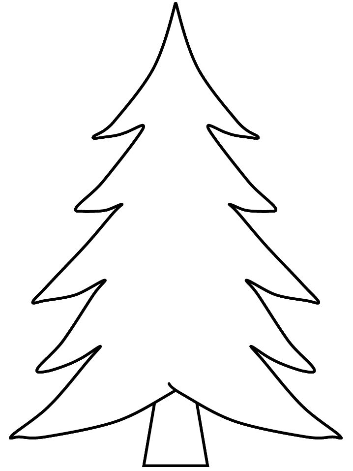 718x957 Blank Christmas Tree Coloring Page