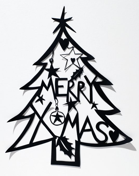 Christmas Tree Images Black And White Free Download Best Christmas
