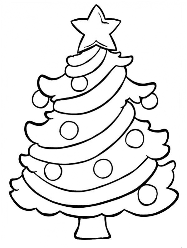 Christmas Tree Line Drawing