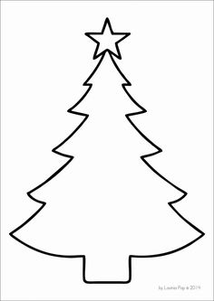 Christmas Tree Outline