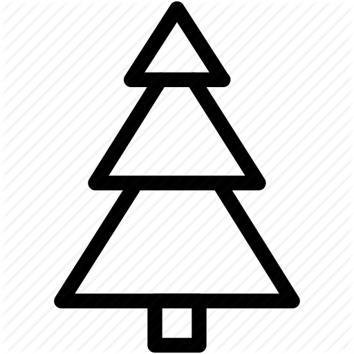 512x512 Christmas, christmas tree, creative, decoration, grid, line, shape