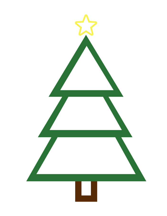 700x905 Christmas Tree Color Sheet Printable