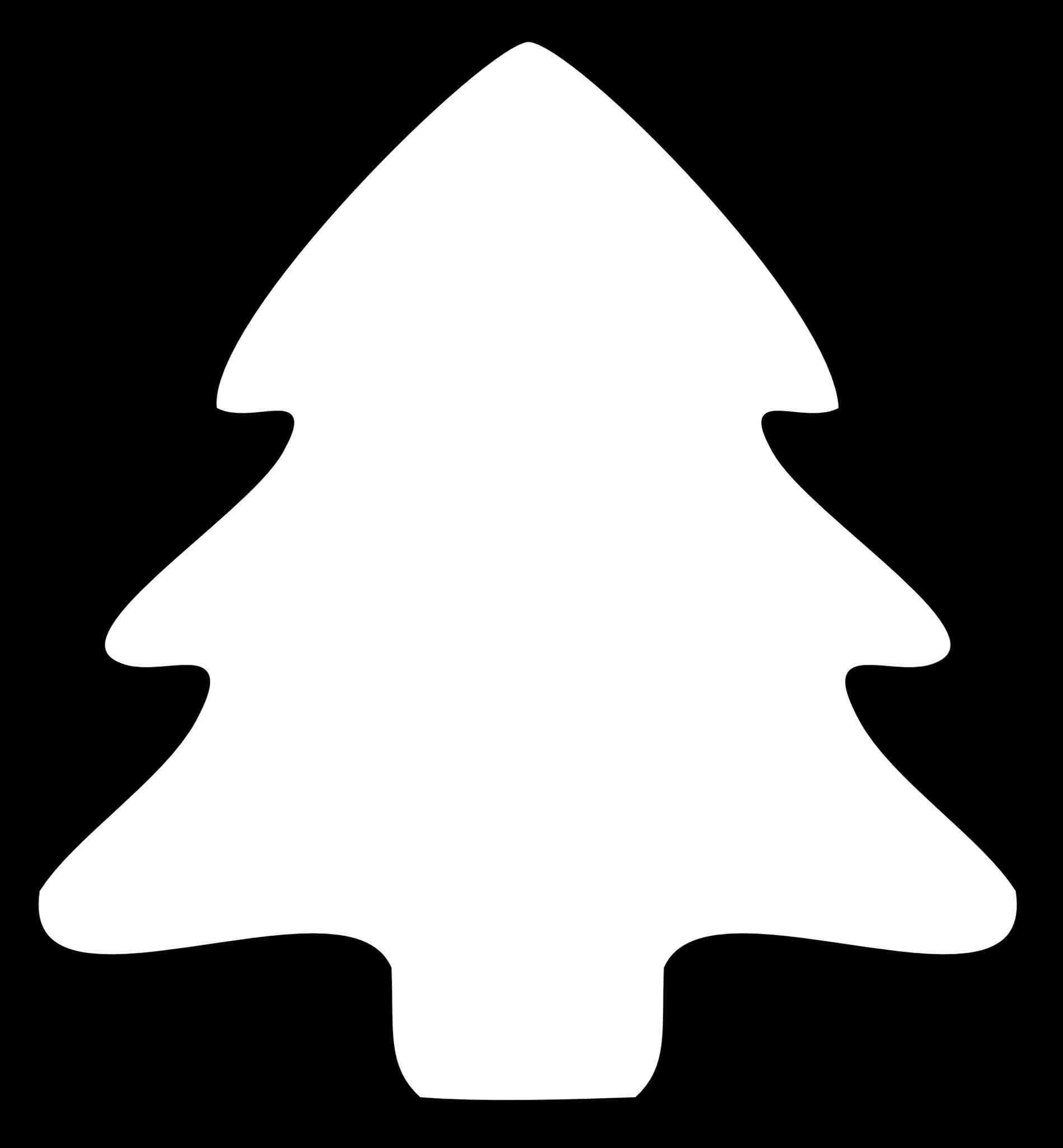 1899x2050 Christmas Tree Outline Clip Art cheminee.website