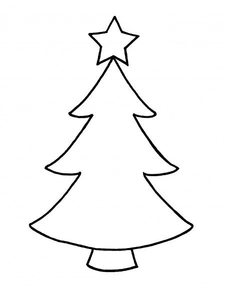 450x581 Christmas Tree Outline Clip Art – Merry Christmas And Happy New