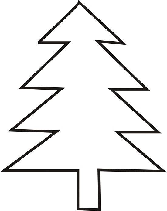 550x695 Christmas Tree Outline Clipart