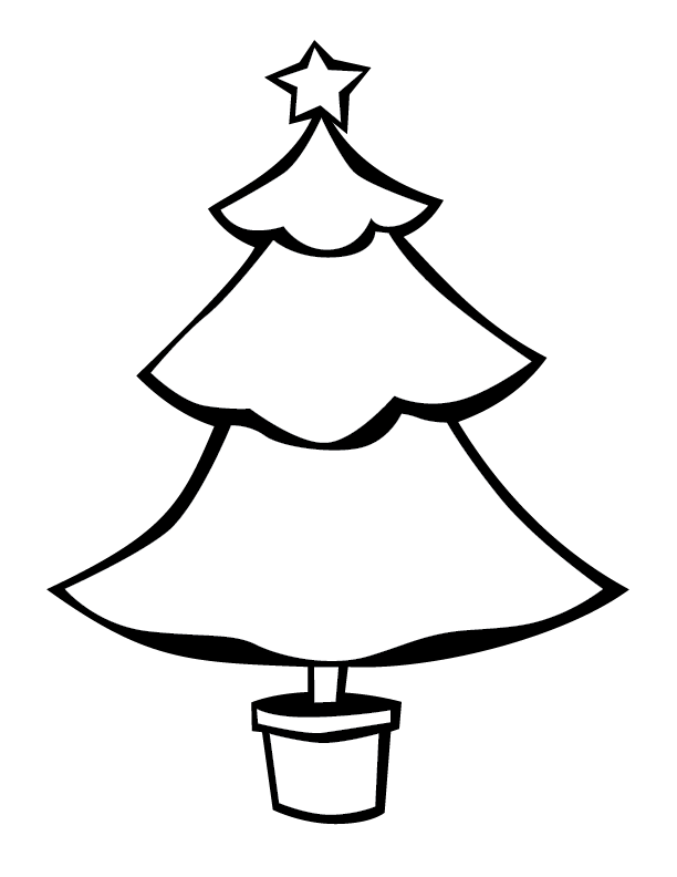 612x792 Christmas Tree Outlines