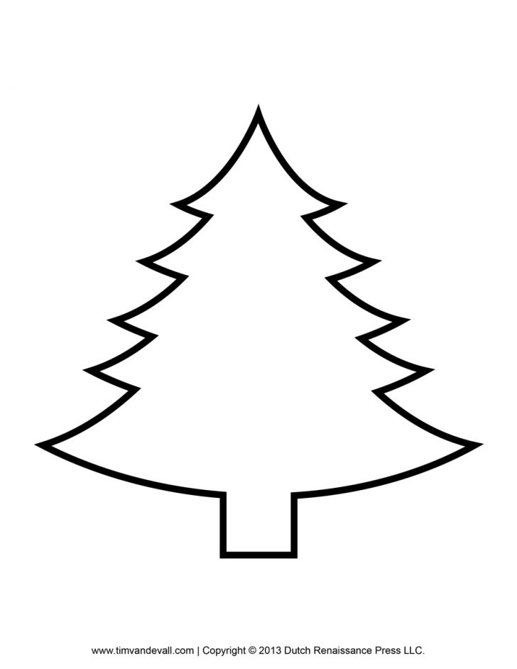 728x942 Christmas ~ Superb Christmas Tree Outline Drawing Withing Pages