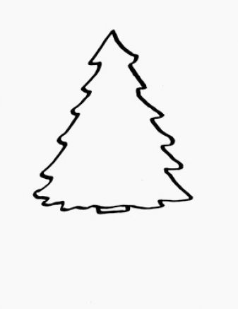 337x437 Clip Art Christmas Tree Outline Clipart Panda