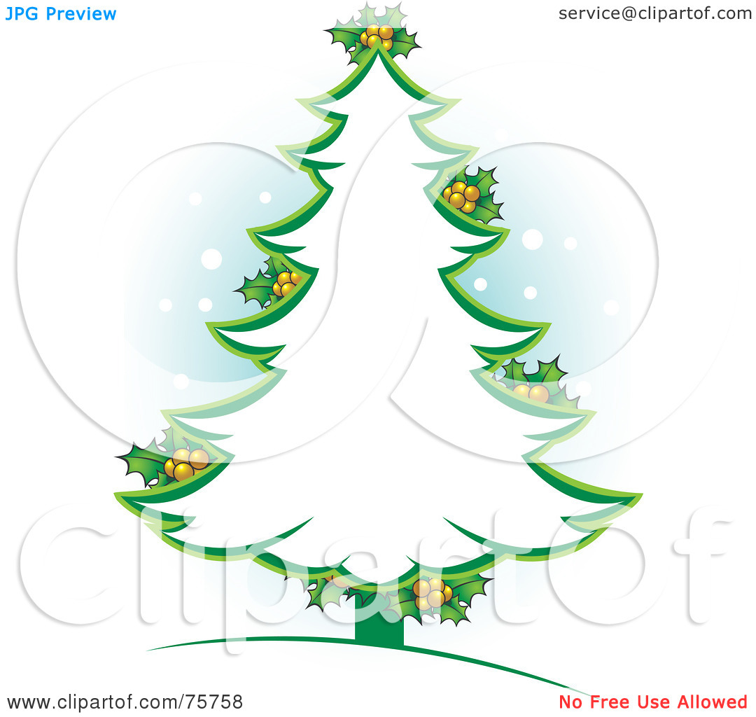 1080x1024 Green Christmas Tree Outline Clipart