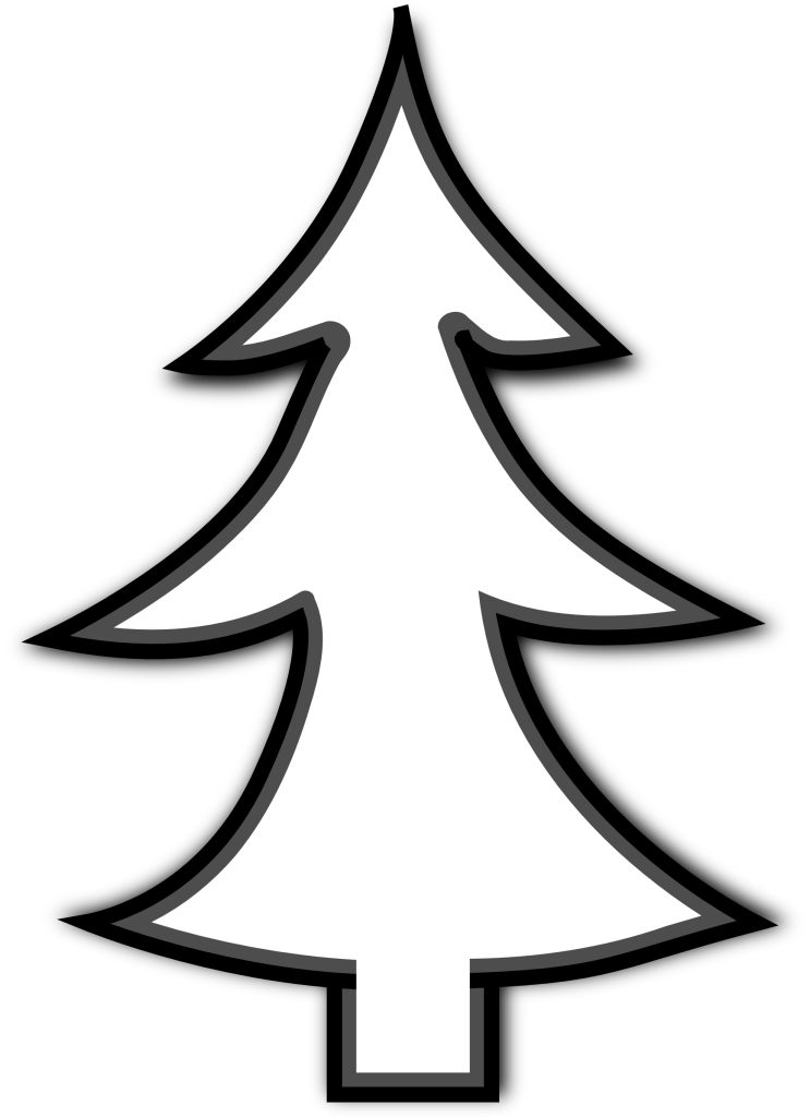 743x1024 Outline Of Christmas Tree Many Interesting Cliparts