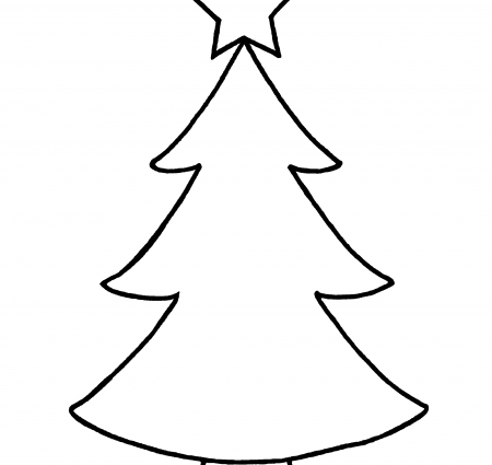 450x425 christmas outline pictures outlines of christmas trees rainforest