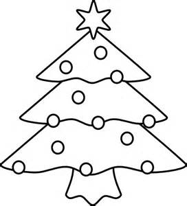 272x300 outline of christmas tree clip art