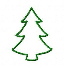 231x241 Best Photos of Christmas Tree Outline Drawing