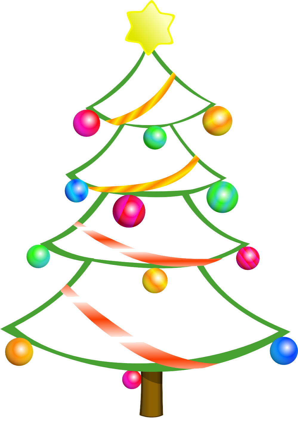 999x1497 Christmas Tree Free Clipart Merry Christmas And Happy New Year 2018