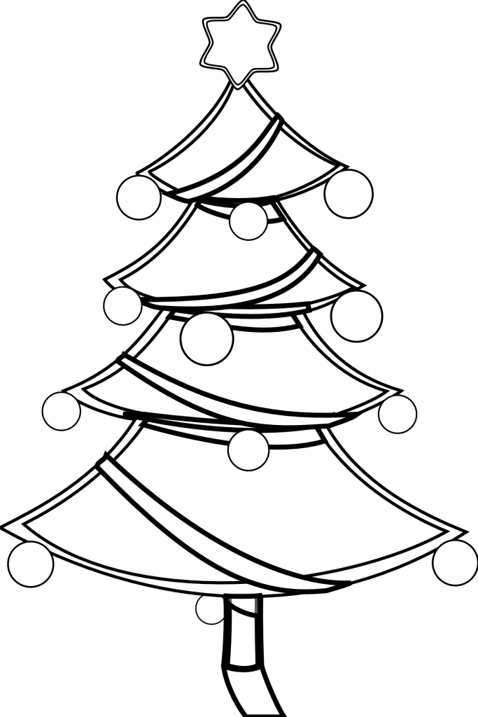 683x1024 Christmas Tree Outline Clip Art